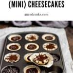 pinterest pin for baileys irish cream cheesecakes