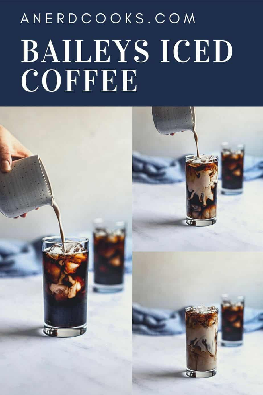 pinterest pin for Baileys Iced Coffee