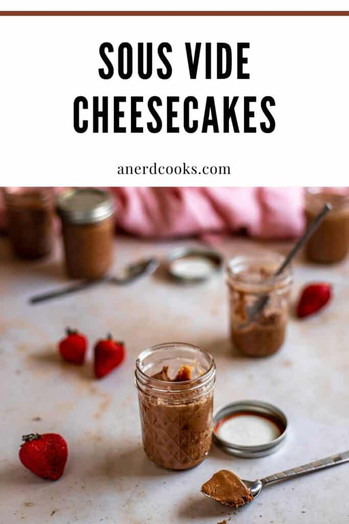 pinterest pin for sous vide cheesecakes