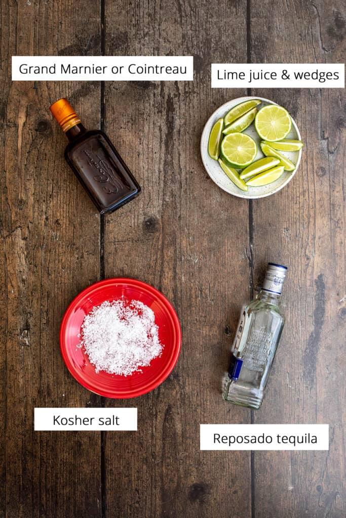 ingredients for making cadillac margaritas