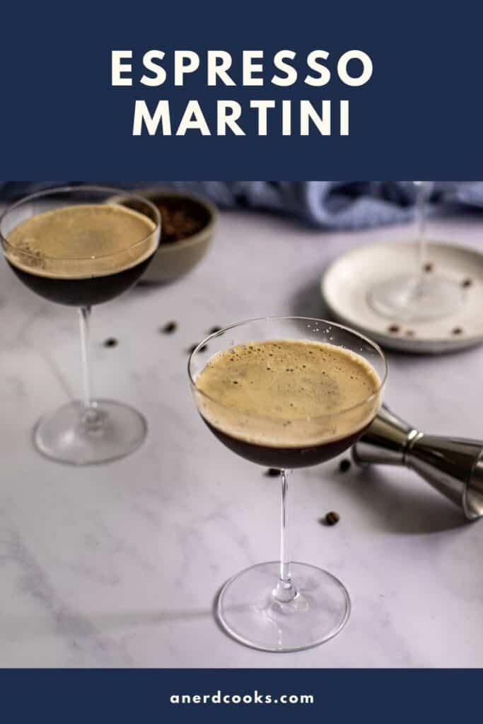 pinterest pin for espresso martini