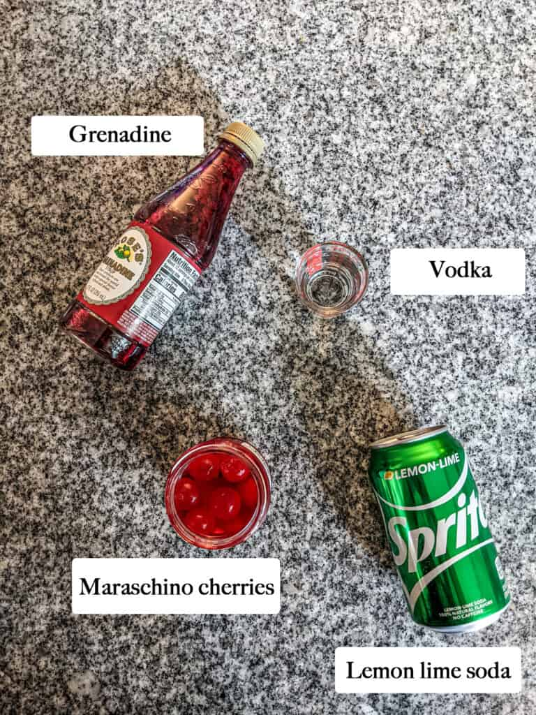 ingredients to make dirty shirley
