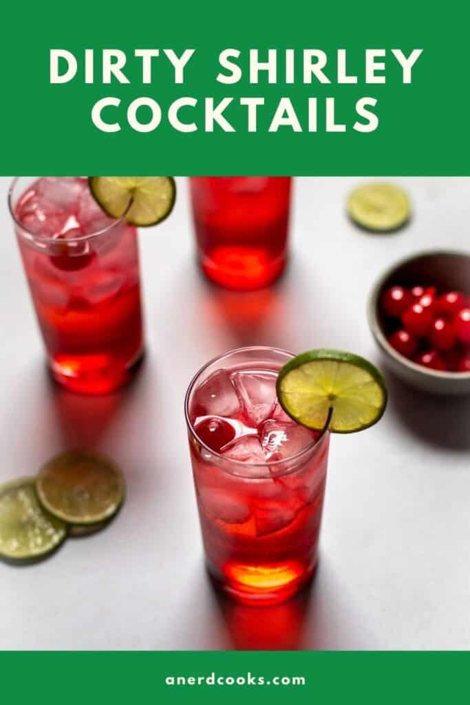 pinterest pin for dirty shirley cocktail
