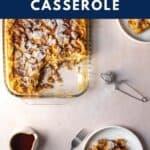 pinterest pin for pumpkin french toast casserole