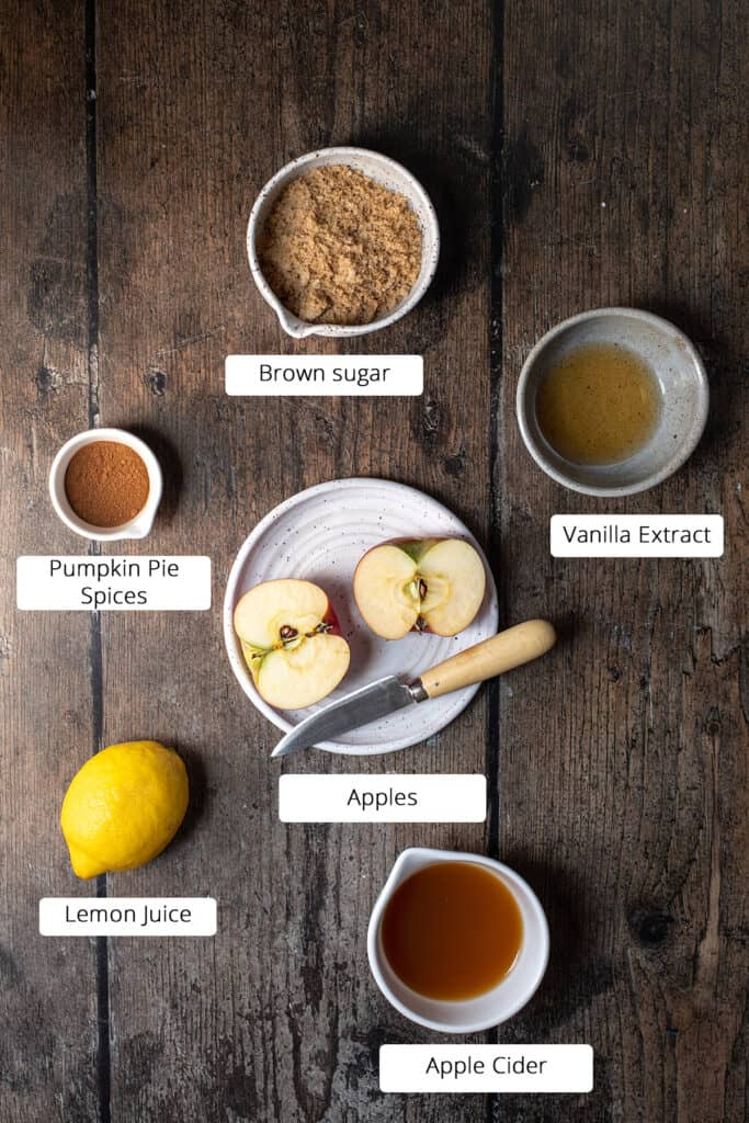 ingredients to make instant pot apple butter